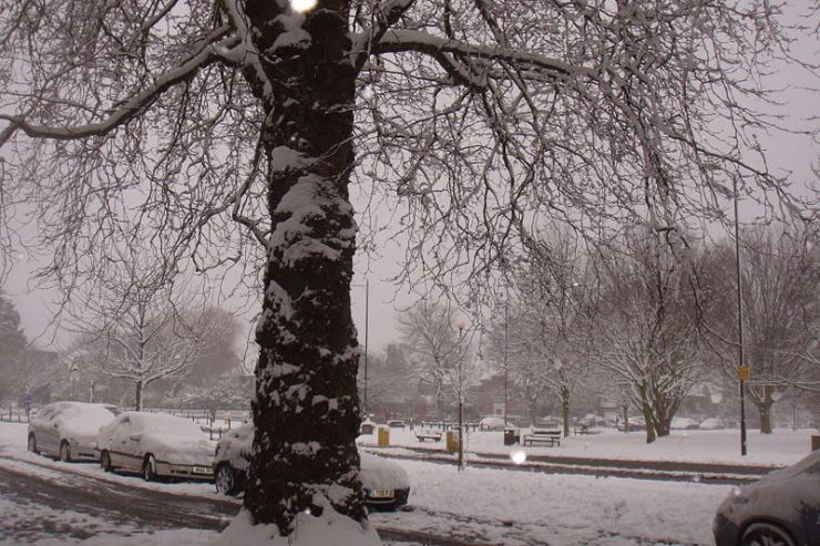Southgate snow London