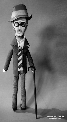 A James Joyce art doll