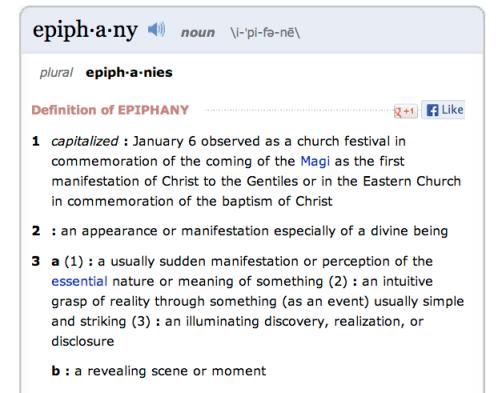e·piph·a·ny